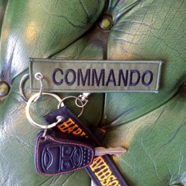 Embroided Keychain - Green & Black - COMMANDO