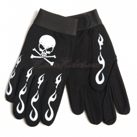 Skulled with Crossed Bones Mechanic gloves