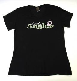 `Lady Angler` Italiaans design T-shirt