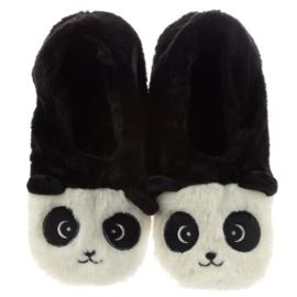 Verwarmde Panda Sloffen Pantoffels