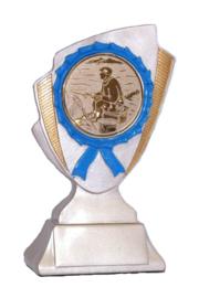 Vistrofee Witvissen 15 cm Brons