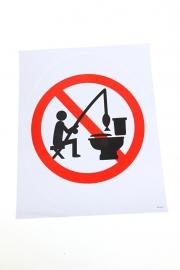 (toilet)Sticker 'Verboden te vissen'