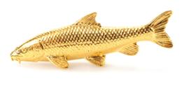 Visspeld Barbeel Verguld