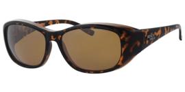 Polariserende Overzetzonnebril – Brown Leopard