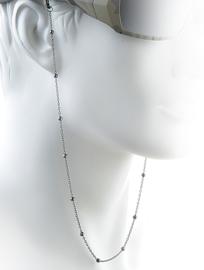 Trendy Metalen Brillenkoord Zwart - Black Metal Beads