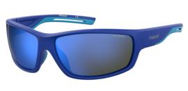 Polaroid® Fast Lane Blue Antislip Lichtgewicht Sport Zonnebril