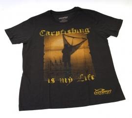 `Carp Fishing is my life` design vis T-shirt