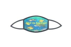 Luxe mondkapje Shut Up And Fish! – mondkapjes vissen visser