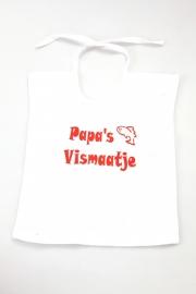 Babyslabbetje Papa's Vismaatje Wit