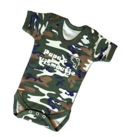 Camouflage Babyrompertje Papa's Vismaatje
