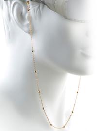 Luxe Metalen Brillenkoord Rosé Goud – Gold Beads
