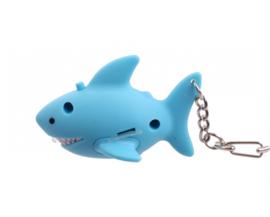 Sleutelhanger / zaklamp haai met geluid
