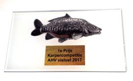 Glasstandaard Diverse Vissoorten + Opdruk