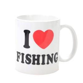 Unieke Vismok `I Love Fishing` - Voorzijde