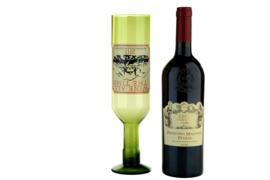 XXL wijnglas voor hele fles wijn