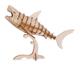 Houten 3D Puzzel Haai