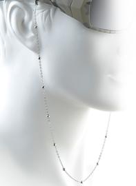 Luxe Metalen Brillenkoord Zilver – Silver Beads