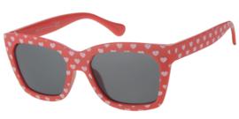 Kinderzonnebril 5 - 8 jaar Meisjes Love Red