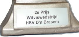 Vistrofee Witvissen 15 cm Zilver
