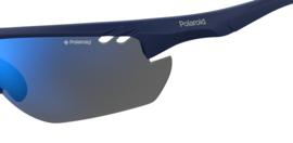 Polaroid® Blue Sportsman Antislip Lichtgewicht Sport Zonnebril