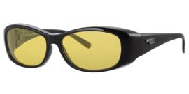 Polariserende overzetzonnebril nachtbril met gele lenzen