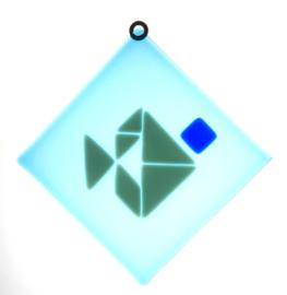 Raamhanger Vis Tangram vierkant