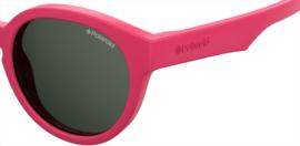 Polaroid® Onbreekbare Lichtgewicht Kinderzonnebril 4 - 8 jaar Brainy Pink
