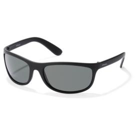 Onbreekbare Polaroid® Zonnebril Zwart Smal Model