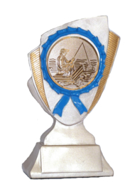 Vistrofee Bootvissen 15 cm Brons