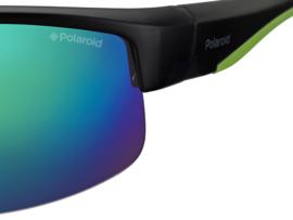 Polaroid® Antislip Zonnebril Blauwgroen Spiegelglas