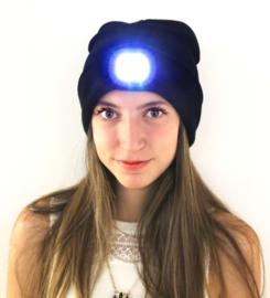Vismuts met LED-lamp