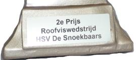 Vistrofee Bootvissen 20 cm Zilver