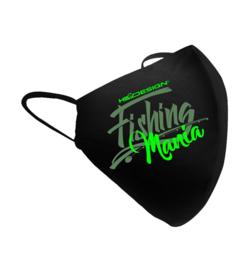 Luxe mondkapje Fishing Mania groen – mondkapjes vissen