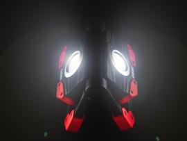 Draadloze Oplaadbare Accu Bouwlamp Werklamp + Powerbank