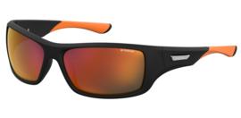Polaroid® Zonnebril Black & Orange Teaser met Spiegellenzen
