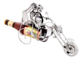Bierfleshouder liefdespaar op motorfiets – flessenhouder motor