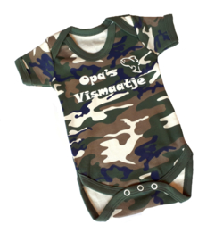 Camouflage Babyrompertje Opa's Vismaatje
