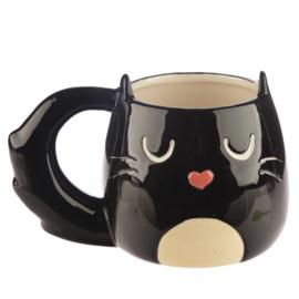 Mok Zwarte Kat 'Feline Fine'