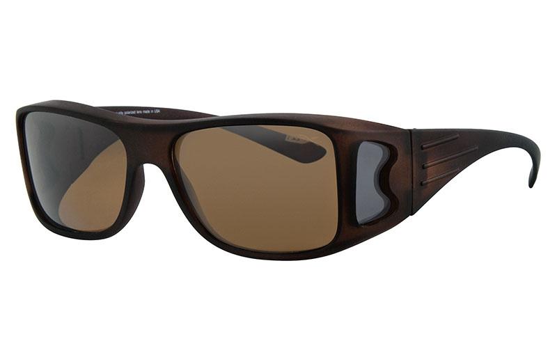 Polariserende Overzetzonnebril XL Brown Master