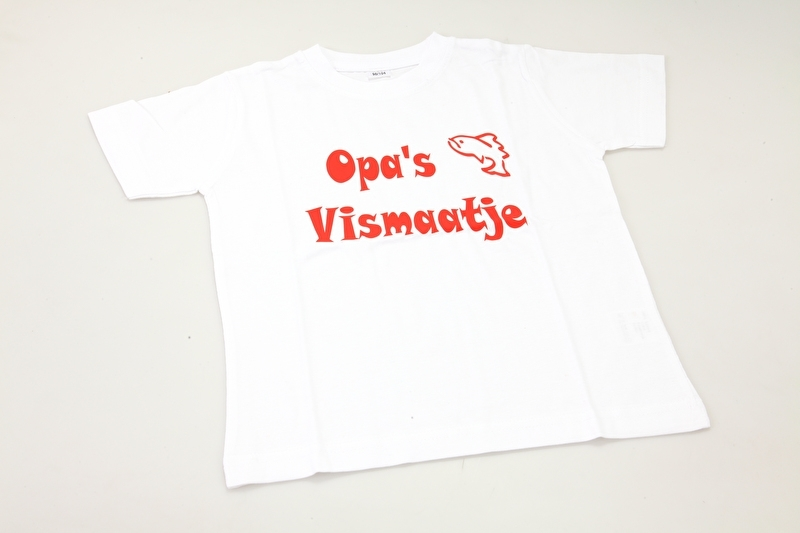 Kinder T-shirt 'Opa's Vismaatje'