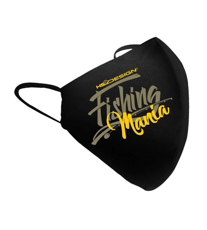 Luxe mondkapje Fishing Mania geel – mondkapjes vissen