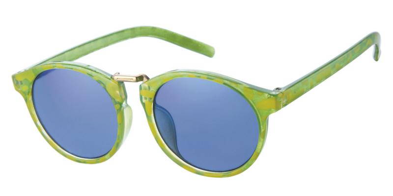 Kinderzonnebril 8 - 12 jaar Jongens & Meisjes Green Turtle Mirror