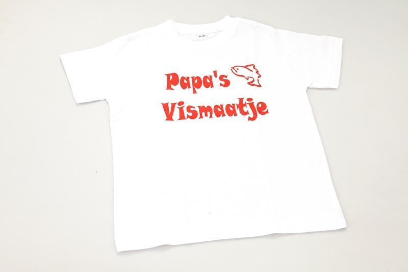 Kinder T-shirt Papa's Vismaatje