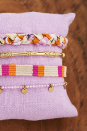 My Jewellery - Oranje gevlochten armbanden set