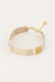 My Jewellery - Goudkleurig bohemian armbandje gestreept