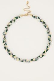 My Jewellery - Mintgroene gevlochten ketting