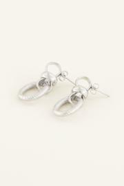 My Jewellery - Ovale oorbellen met structuur
