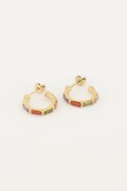 My Jewellery - Oorringen met gekleurde steentjes