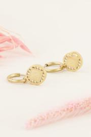 My Jewellery - Oorringen bloem ruitje