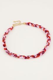 My Jewellery - Roze gevlochten ketting